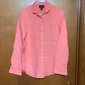 J. Crew Linen Perfect Button Down